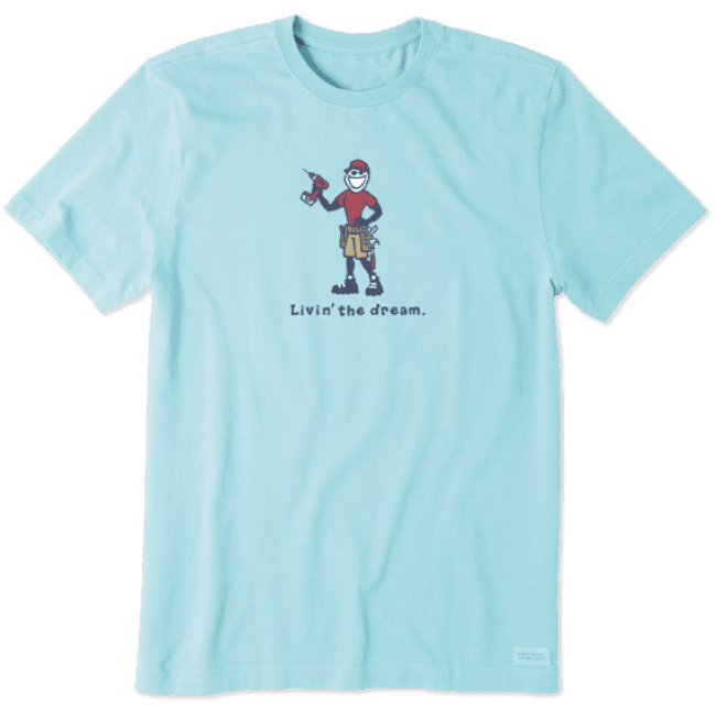 Life is Good Men's Livin the Dream T-shirt in Blue