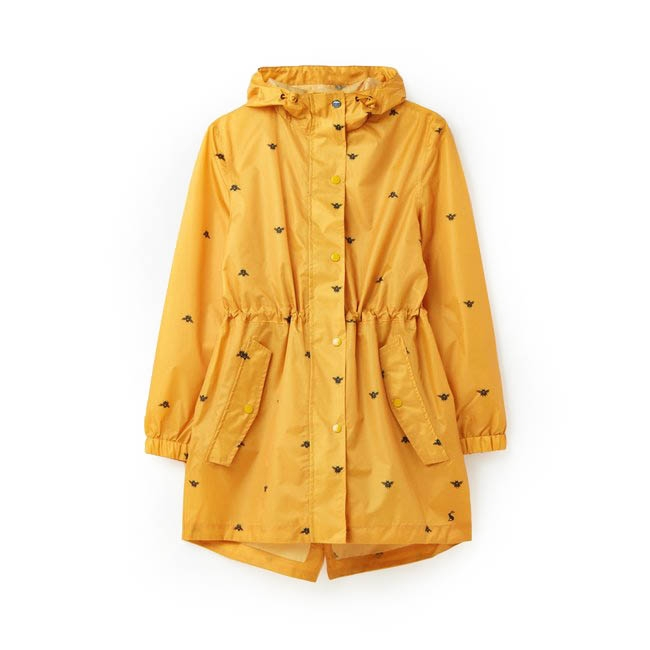 Joules Golightly Rain Jacket Gold Bee