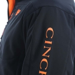 Cinch Bonded Black Jacket with Orange Embroidery