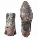Ariat Dixon Western Boots Naturally Distressed Black