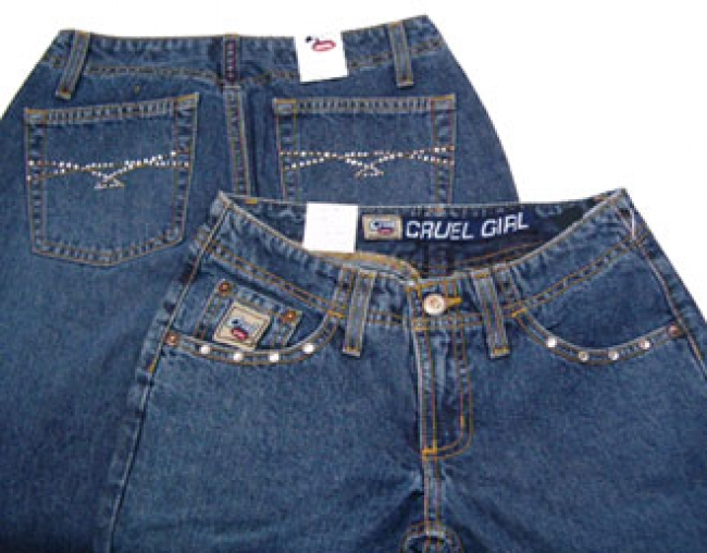 Cruel Girl Legacy Jeans with Rhinestones Size 1 Reg.