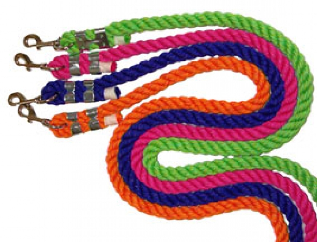 Bright Heavy Cotton Lead Rope with Snap