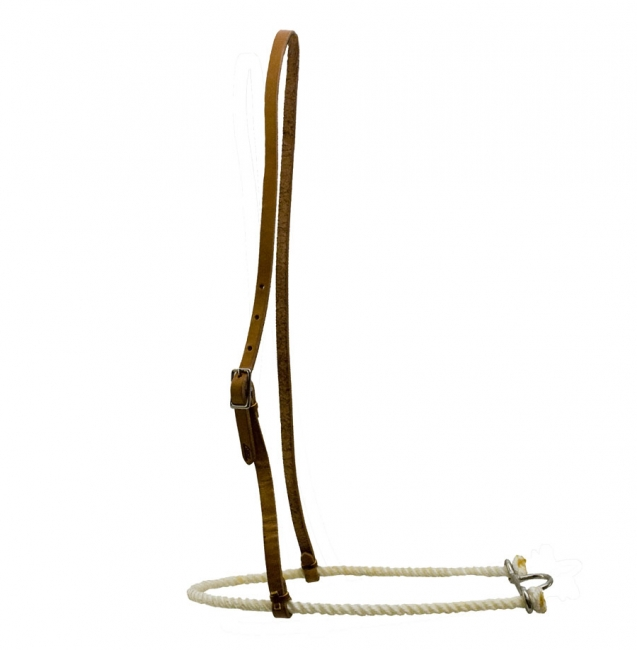 Tory Leather Waxed Lariat Rope Roper Noseband