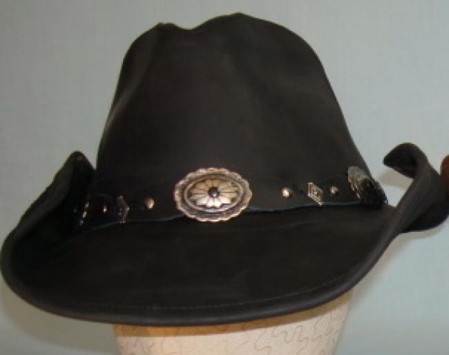 67.99. Stetson Roxbury Leather Western Hat Black 35e7e24580a