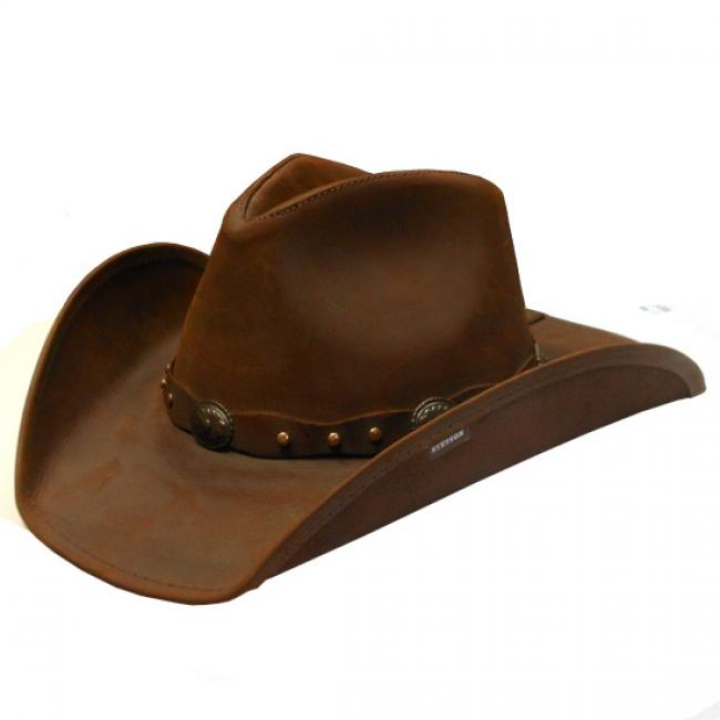 Stetson Roxbury Brown Leather Cowboy Hat e67121228f9