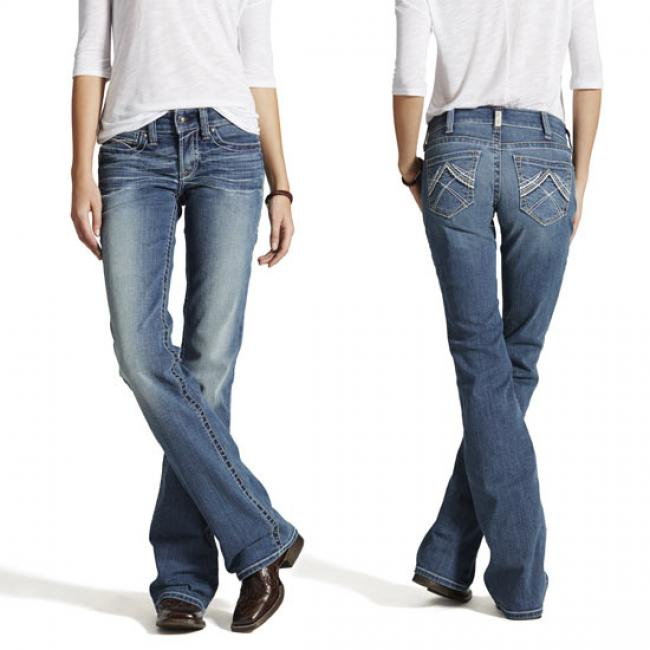Ariat REAL Riding Jeans for Women - Whipstitch Rainstorm