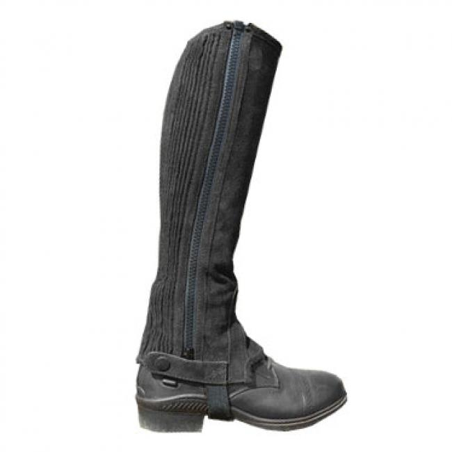 Shires Children's Suede Half Chaps Black