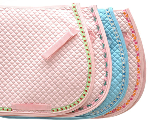 Perri S Ribbon All Purpose English Saddle Pad