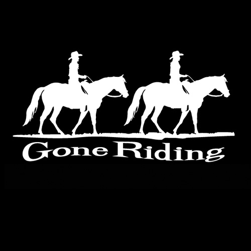 Horses Unlimited Gone Riding Decal
