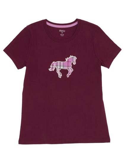 Hatleys Womens Plaid Horses Pajama Set