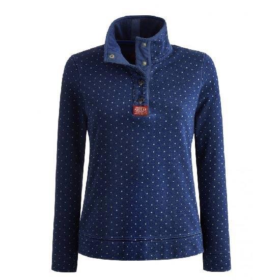 Joules Ladies Peachy Sweatshirt In Navy Spot