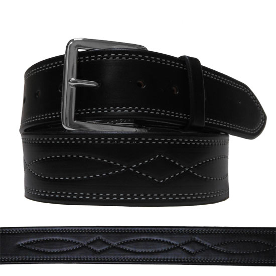 Fancy Stitched Wide English Belt For Women