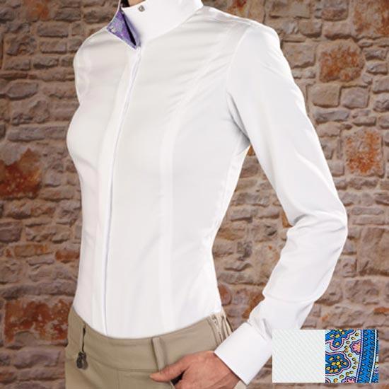 Essex Classics Quot Stella Quot Ladies Fitted Wrap Collar Show Shirt