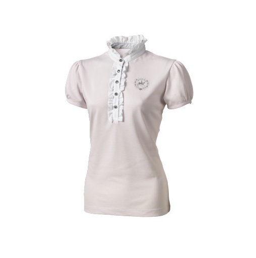 Pikeur Ruffled Neck Short Sleeve Competition Shirt