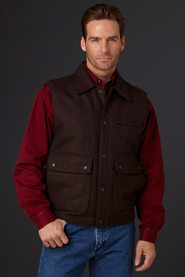 Cripple Creek Men S Collared Wool Work Vest