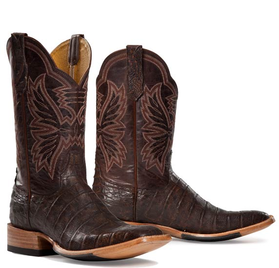 Cinch Exotic Brown Caiman Western Boot for women