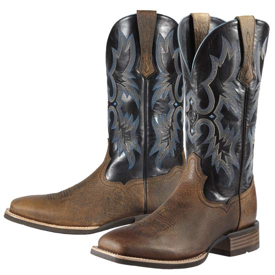 Ariat Men's Tombstone Western Boot in Earth Brown and Black
