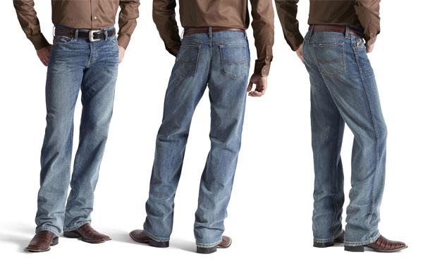 ariat men's m3 straight leg jeans in scoundrel